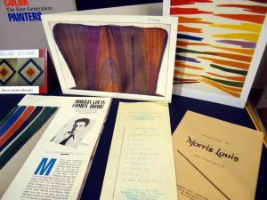 "Morris Louis ephemera from ""Hard-edged, Bright Color"""