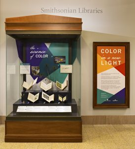 "Smithsonian Libraries Exhibit ""Color in a New Light"" located in the Evans Gallery of the Smithsonian National Museum of Natural History."