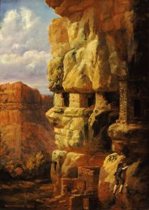 """Cliff Houses on the Rio Mancos, Colorado"" (1875)"