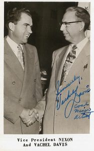 Signed Photo of Vachel Davis Meeting Vice President Richard Nixon