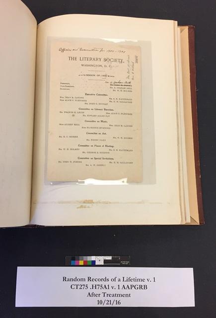 Literary Society, Washington, D.C. committee members