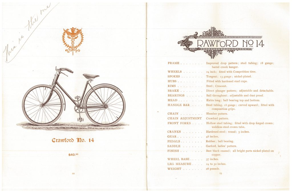 Crawford No. 14 Bicycle