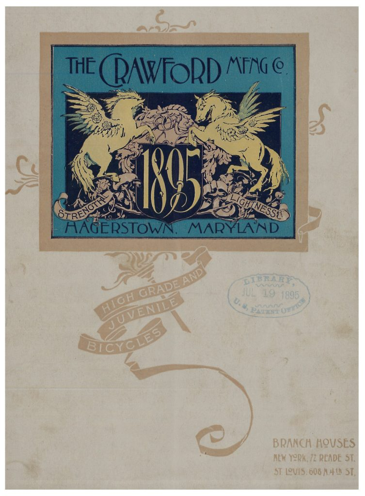 front cover of catalog showing illustration of two unicorns.