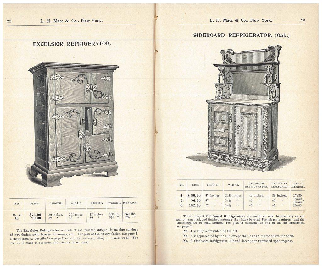 Excelsior Refrigerator and Sideboard Refrigerator