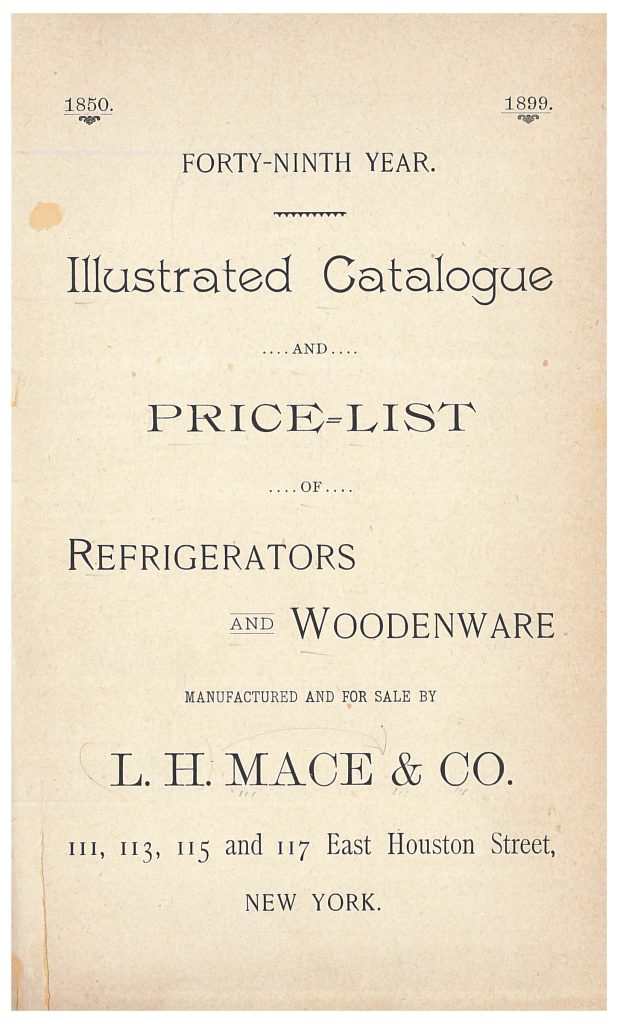 title page of catalog