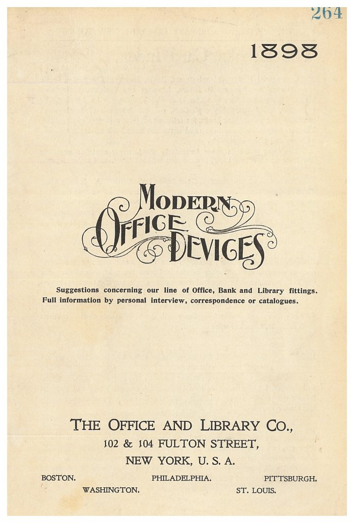 front cover of Modern Office Devices trade catalog