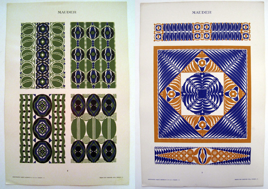 Ornamente, by Bruno Mauder. (L:) Plate 3. (R:) Plate 7.