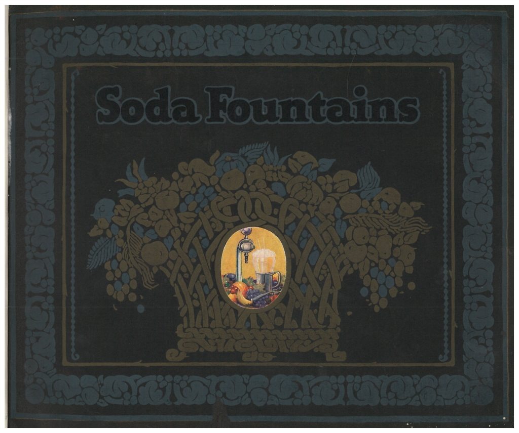 front cover of catalog showing fruit, beverage, and soda fountain equipment
