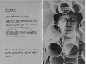 "Outside of exhibition pamphlet for ""Pipe Dreams"" at The Art Image in All Media Gallery in New York in 1970."