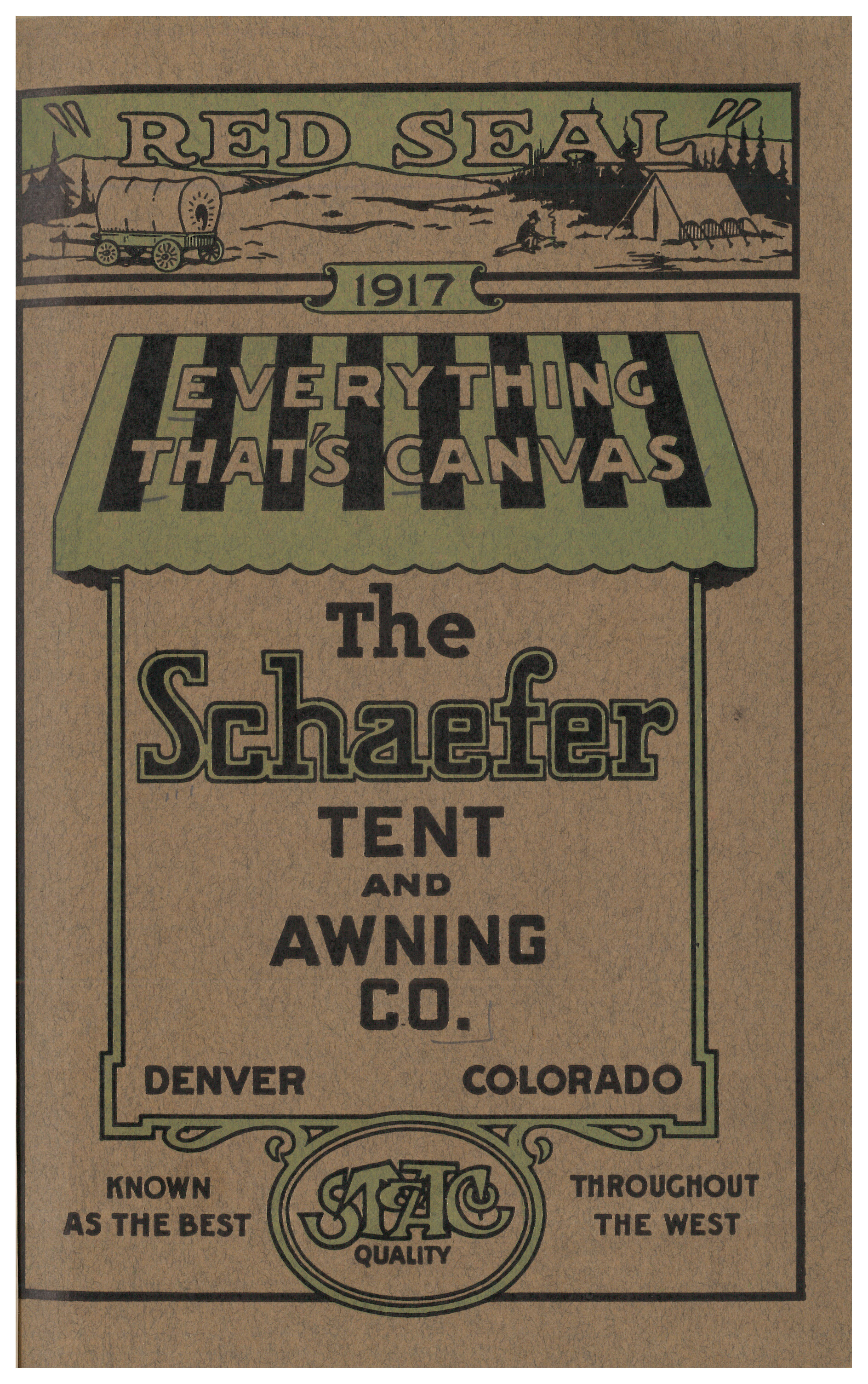 front cover of catalog showing a wagon and tent in one scene at top and a  sc 1 st  Smithsonian Libraries Unbound & The Comforts of Camping - Smithsonian Libraries Unbound ...