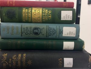 AAPG World's Fair book spines