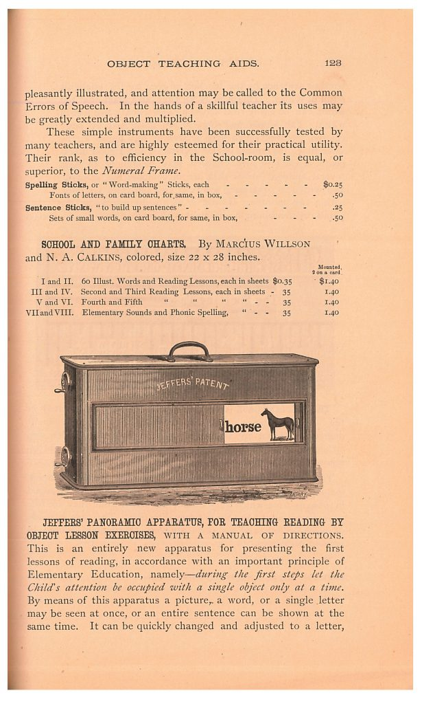 Jeffers' Panoramic Apparatus teaching aid