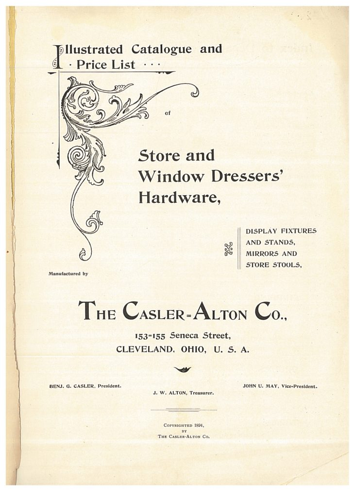 title page of Casler-Alton Co. 1894 trade catalog