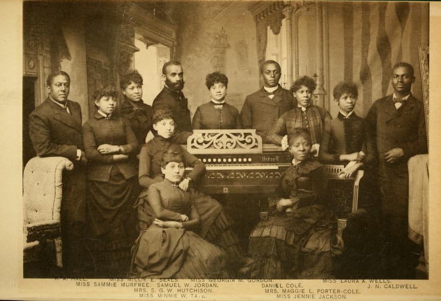The Jubilee Singers, circa 1880.