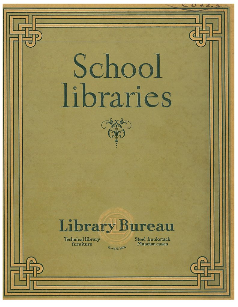 front cover of School Libraries trade catalog