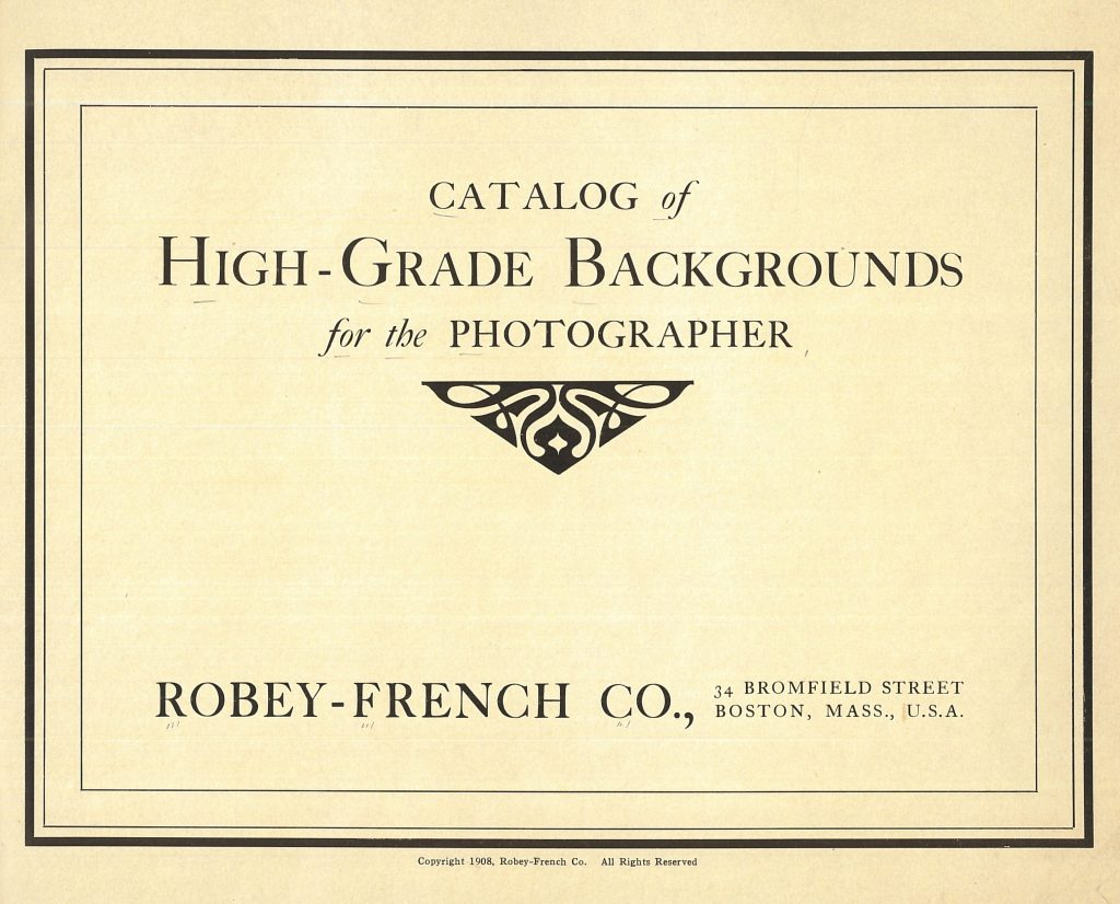 Title page of Robey-French Co. catalog