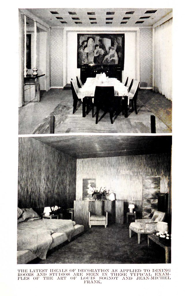 Thérèse Bonney photographs of modern interiors designed by Jean-Michel Frank.
