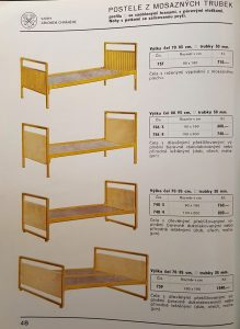 Gold color plating on tubular steel bed frames.