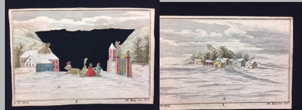 This image features The last 2 plates, 5 and 6 of Winter Scene peep-show.