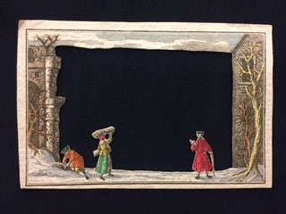 This image features plate 1 of Winter Scene peep-show.