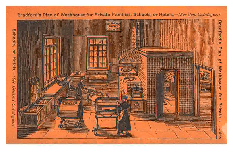two ladies working in a washhouse