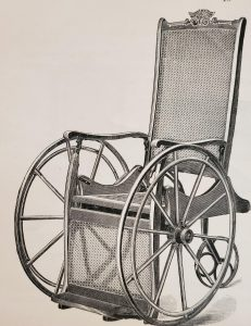 Image features Illustration of Sargent's Invalid's Rolling Chair. p. 18
