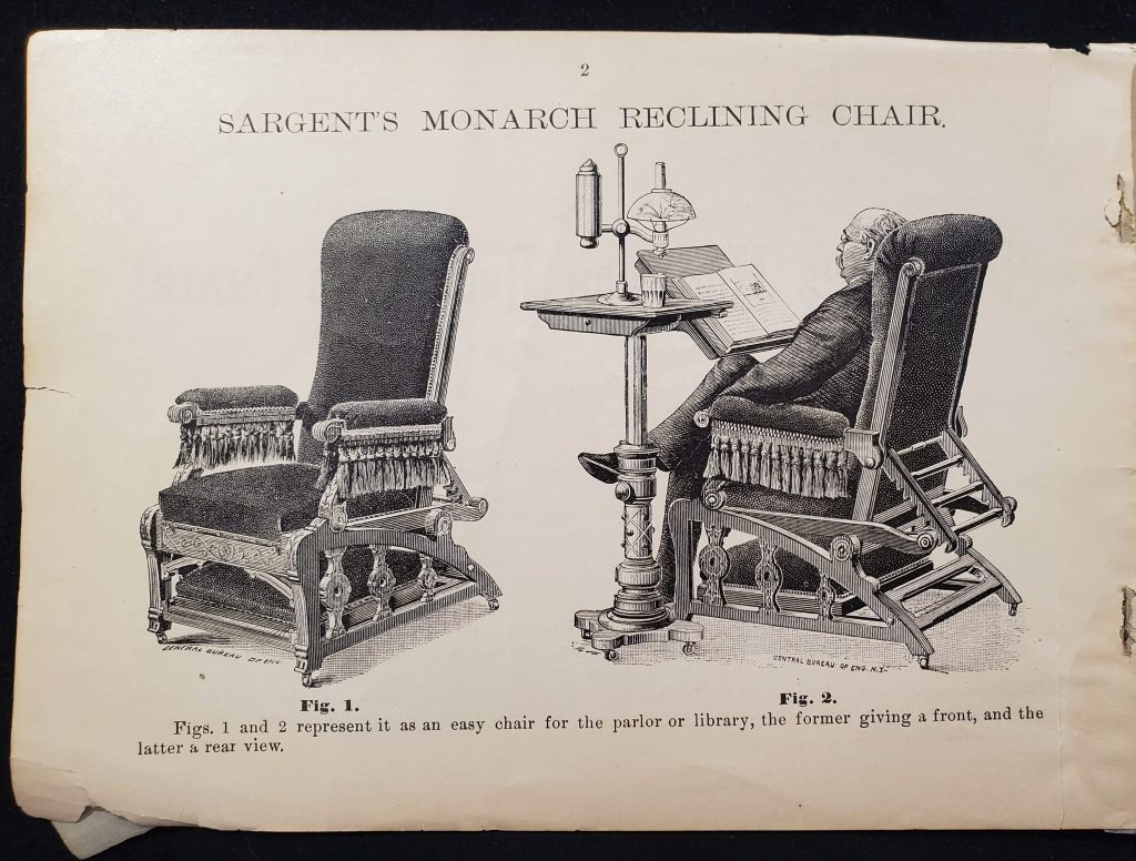 Images features Sargent's Monarch Reclining Chair.