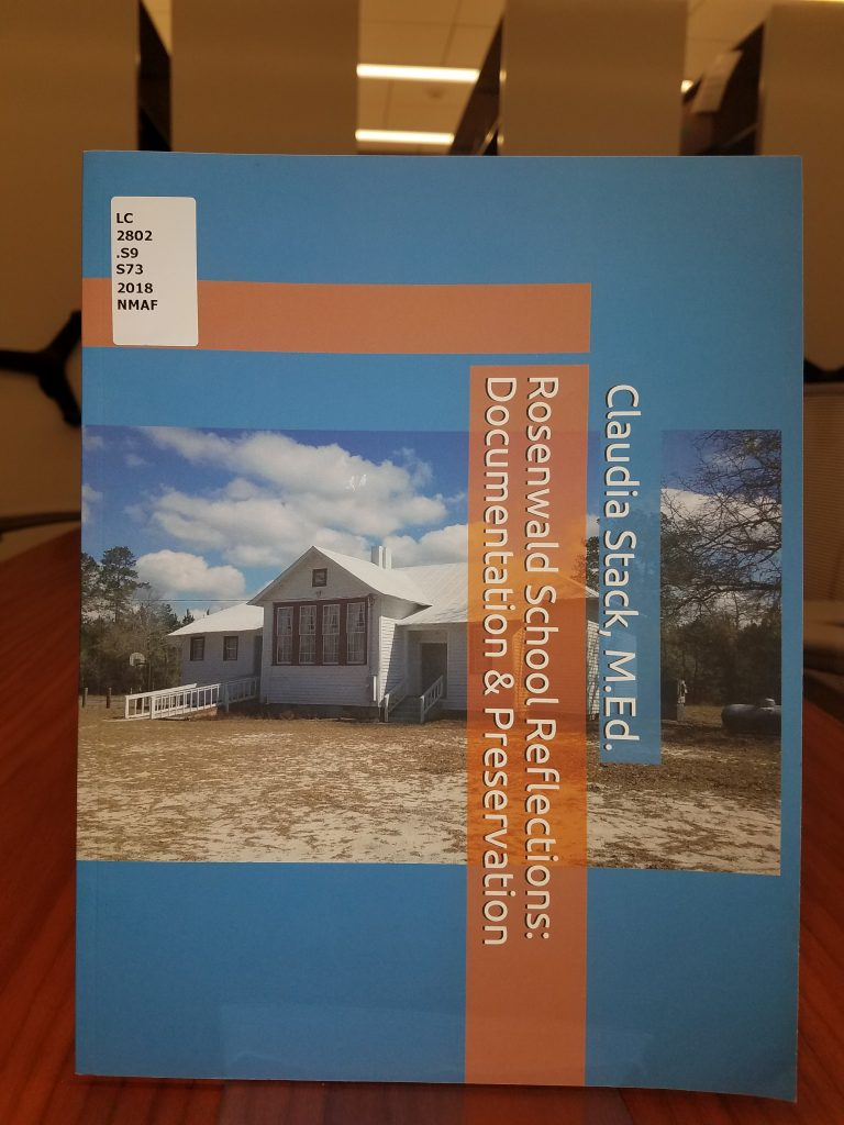 "Cover of book, ""Rosenwald school reflections : documentation & preservation"""