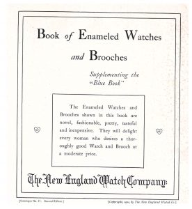 title page of trade catalog