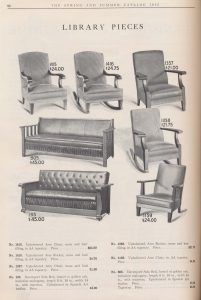 armchairs, rocking chairs, and Davenport sofa beds