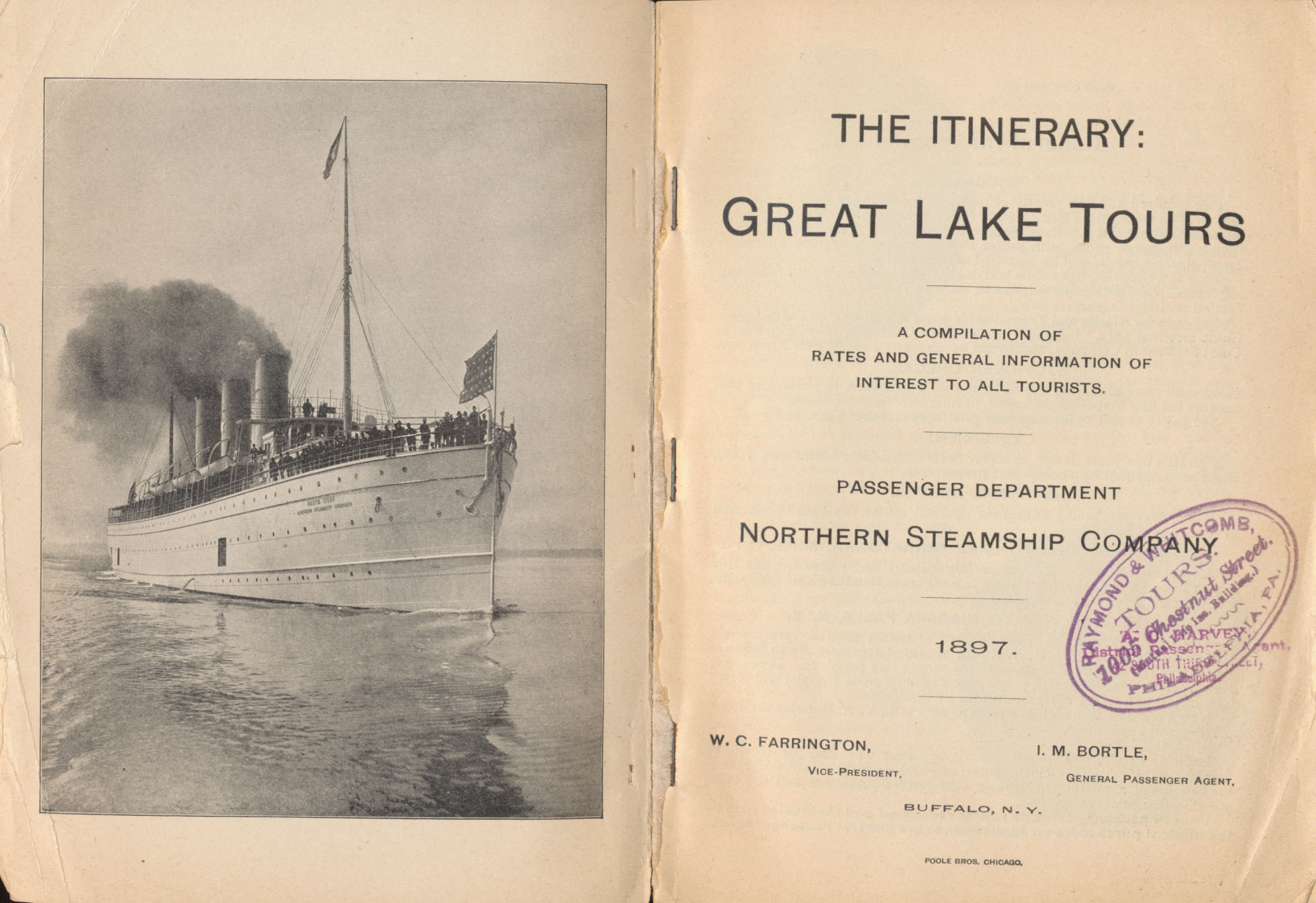 title page and steamship on preceding page