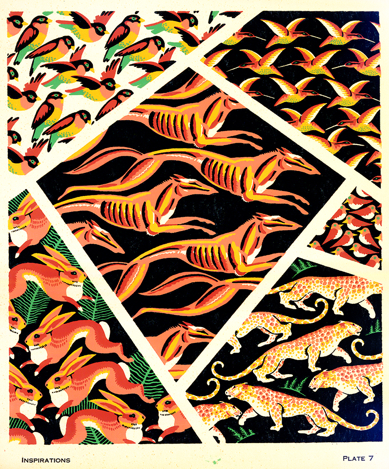 Collage of animal patterns.