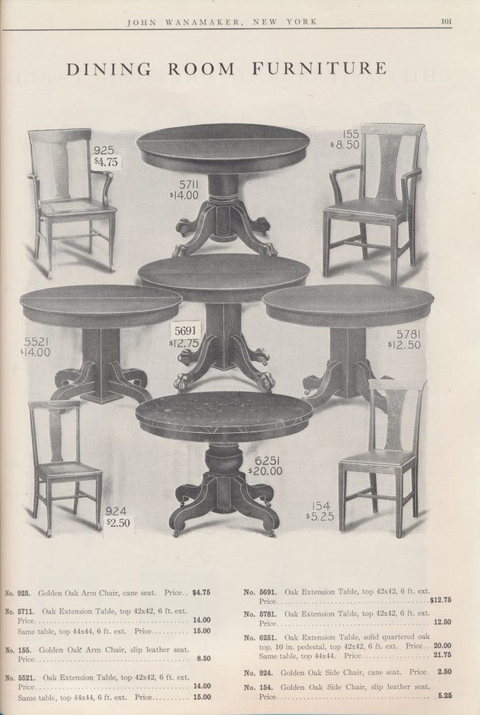 Dining Room Furniture including tables and chairs