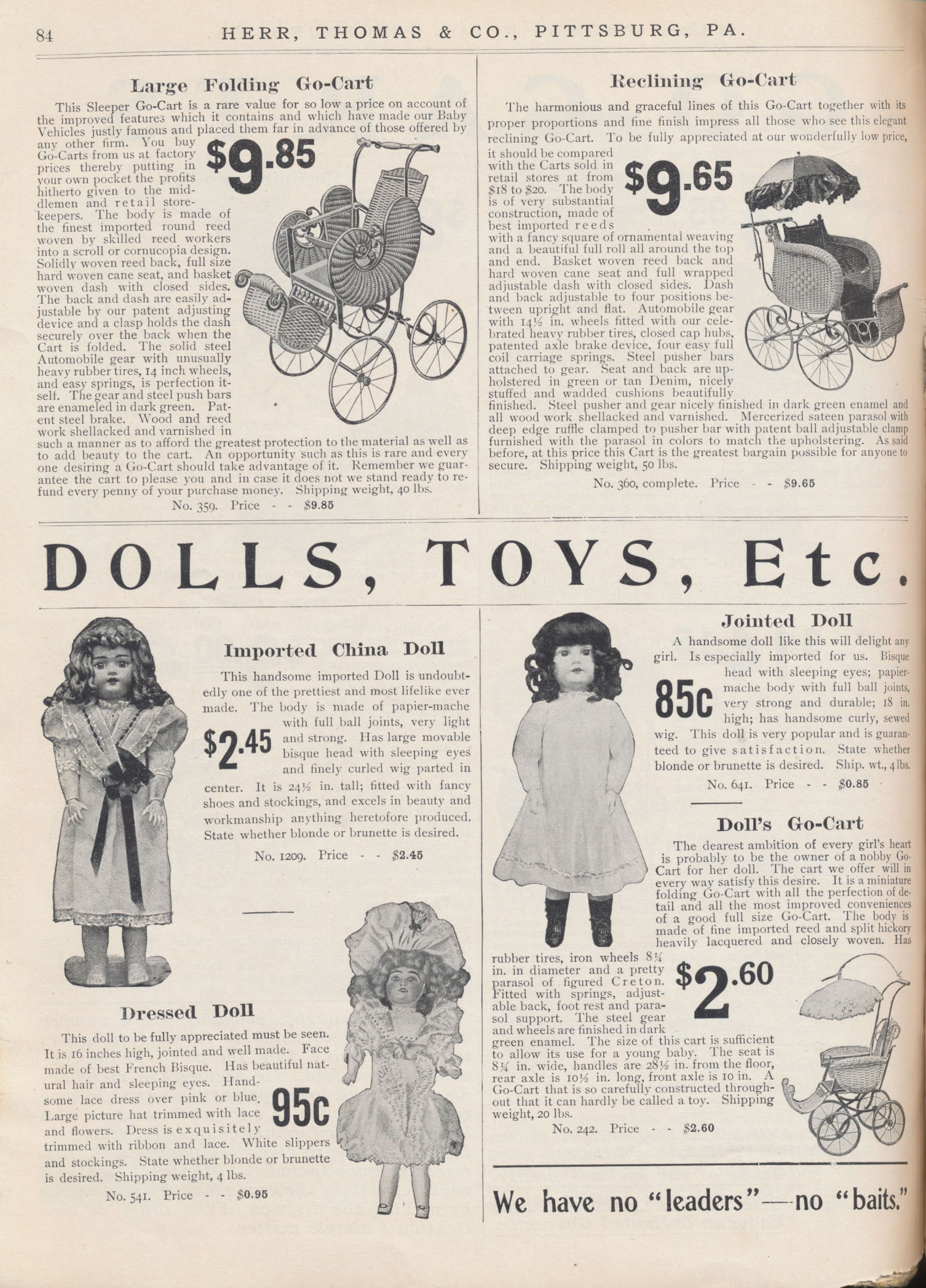 dolls and go-carts