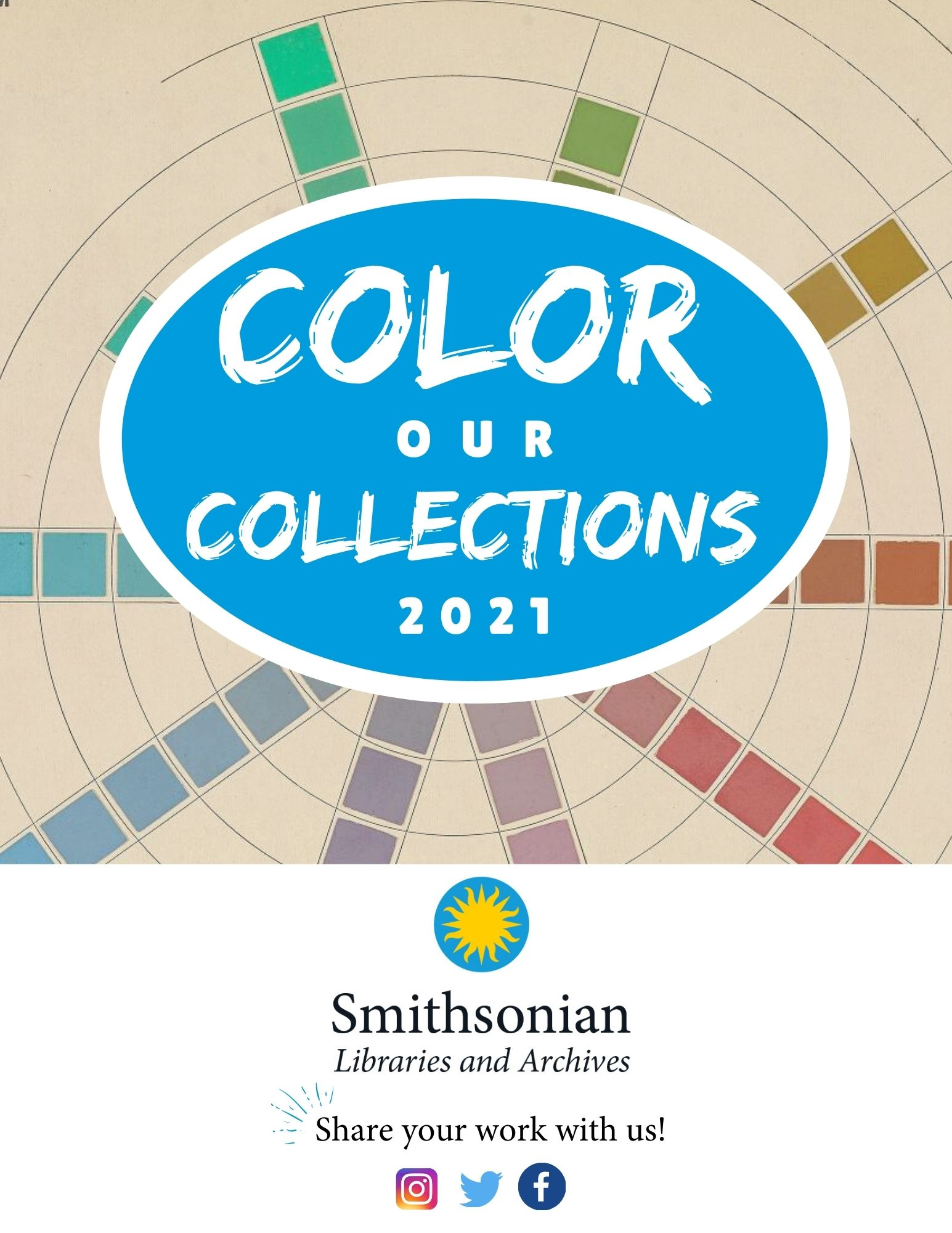 ColorOurCollections 2021 coloring book graphic