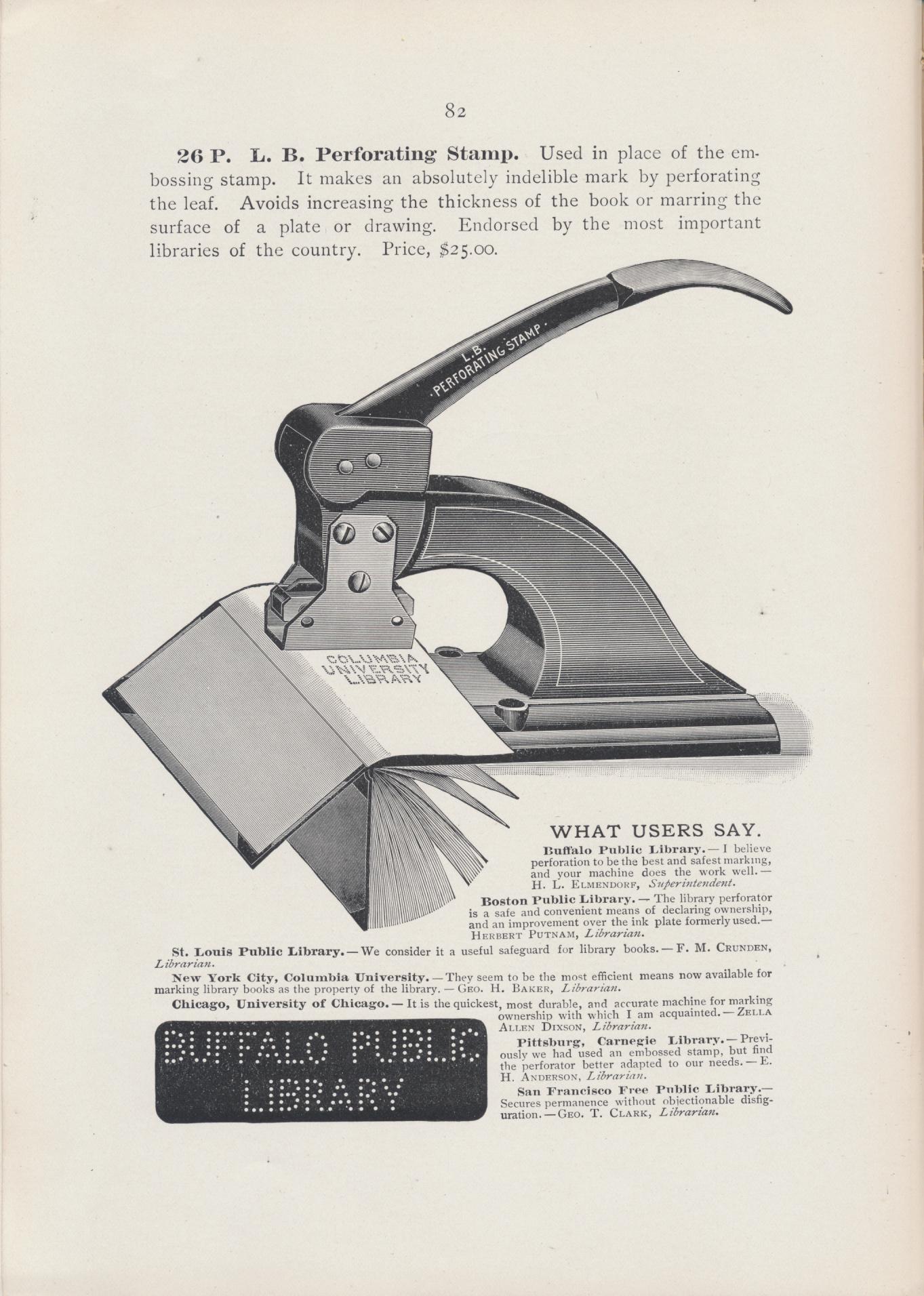 Perforating Stamp