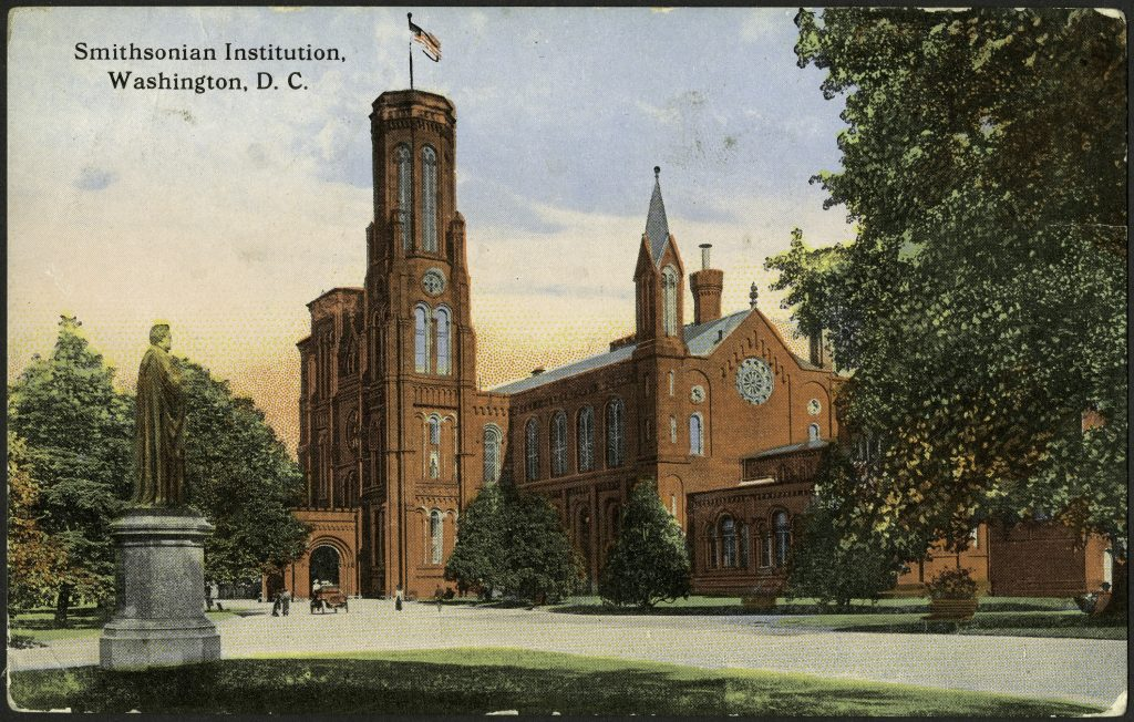 "Postcard with Smithsonian Institution Building (""Castle"")"