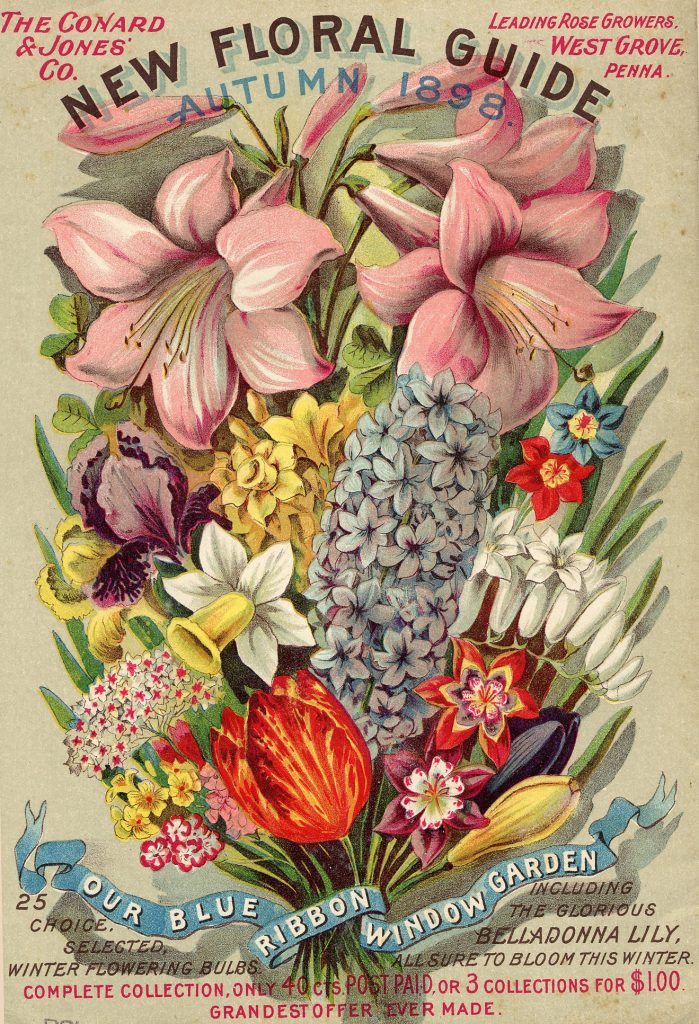 Seed Catalog Cover with variety of flowers