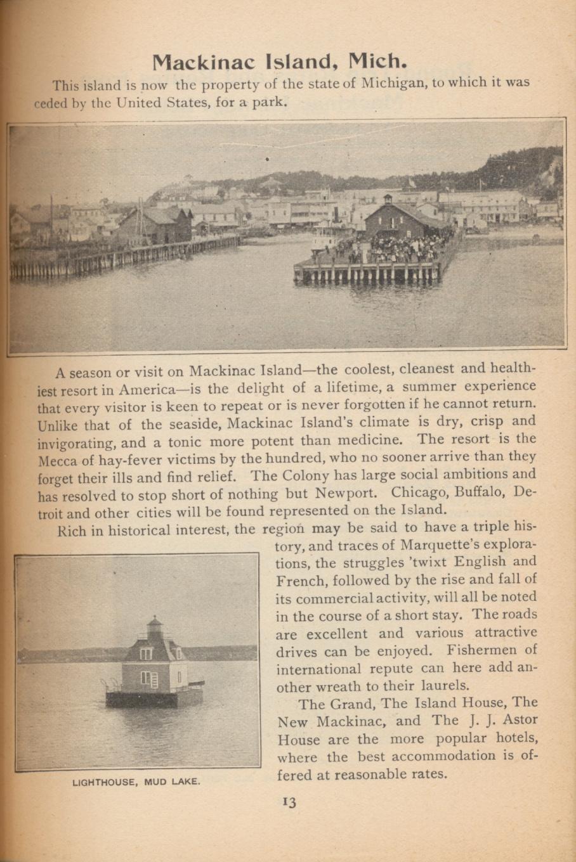 Mackinac Island, Michigan and Lighthouse, Mud Lake