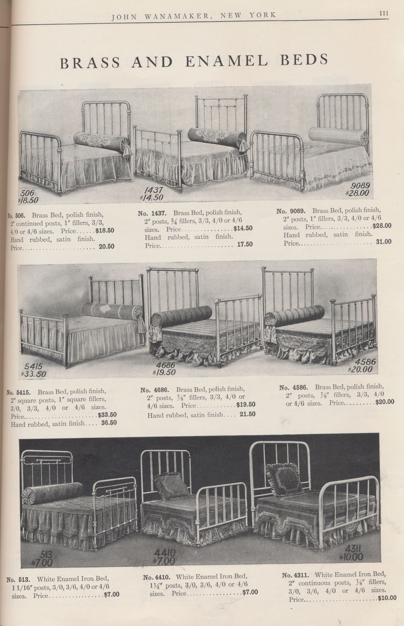 Brass and Enamel Beds