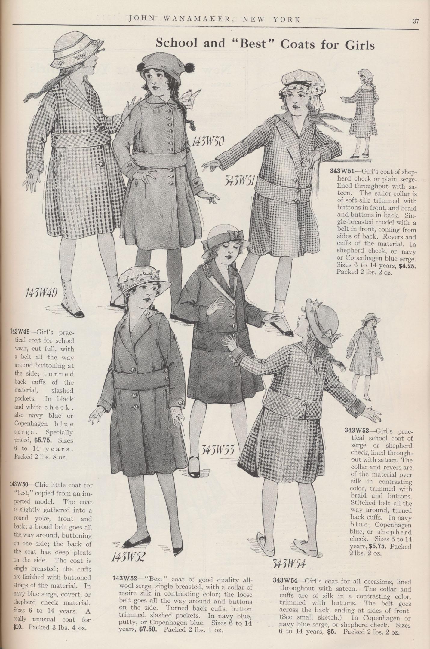 Girls' coats